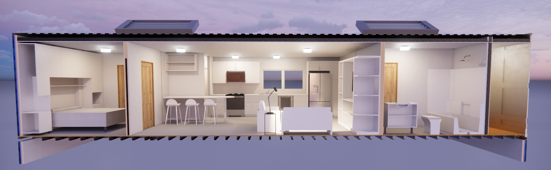 2 Bedroom Section